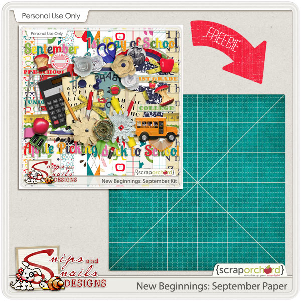 New Beginnings: September Digital Scrapbook Freebie