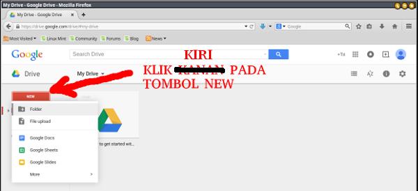 google drive-new folder