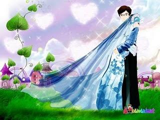 Kartun Pernikahan Muslim menikah pake jillbab