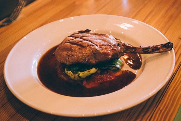 Pork Chop at Pinewood Social in Nashville Tennessee