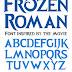 New Font : Frozen Roman Font