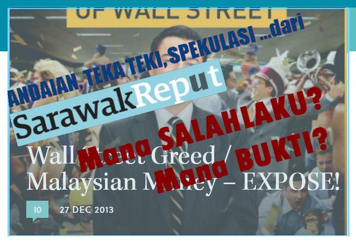 Harap baca dahulu konon pendedahan Sarawak Report yang penuh dengan ...
