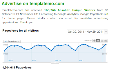 Advertise on templatemo.com