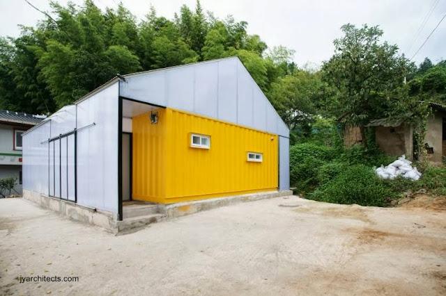 Perspectiva de la casa de bajo costo en Corea del Sur