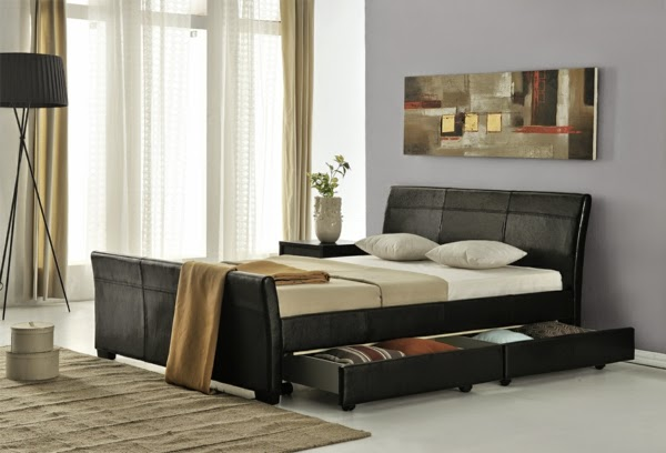 10 ideas for double bed with storage drawers and boxes - Double bed with storage drawers underneath ...