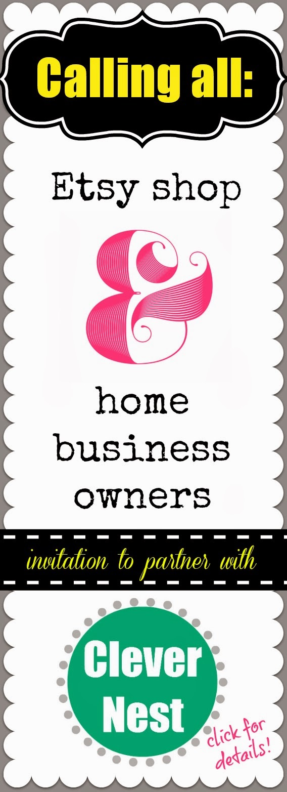 Etsy shop and home business owners: invitation to partner with a DIY blog #giveaway #clevernest #blogversary