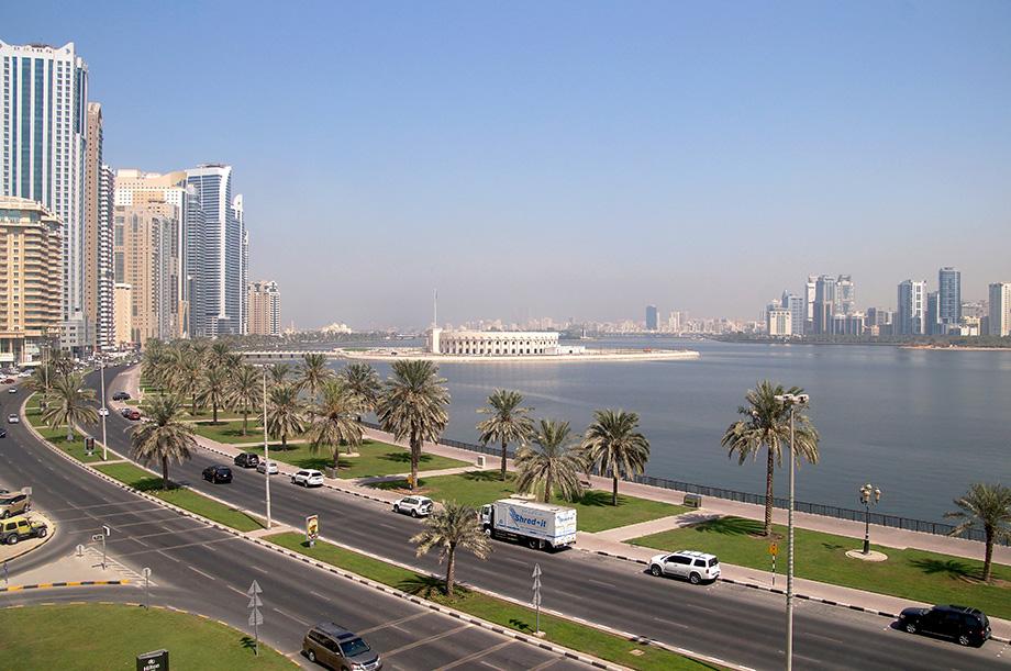 Ynas Reise BLog | VAE | Sharjah | Blick aus dem Hotel Hilton