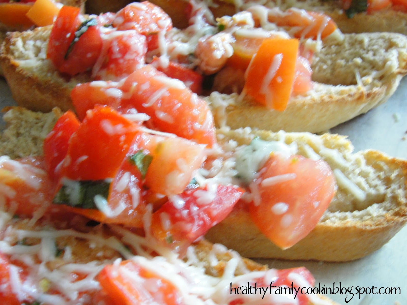healthy family cookin 39 tomato bruschetta. Black Bedroom Furniture Sets. Home Design Ideas