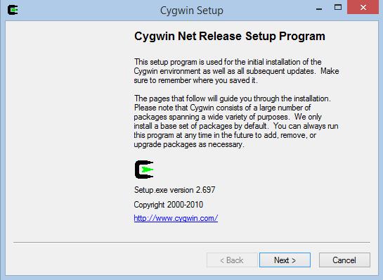 Cygwin Setup 1