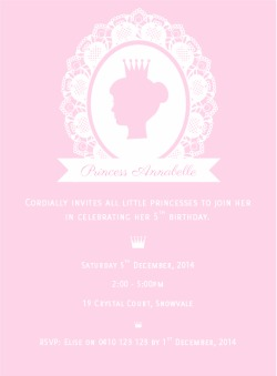Princess Cameo Invitation