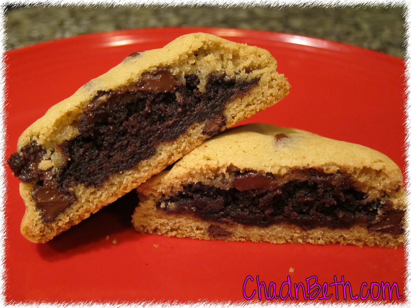 Chad and Beth: Brownie Stuffed Chocolate Chip Cookies