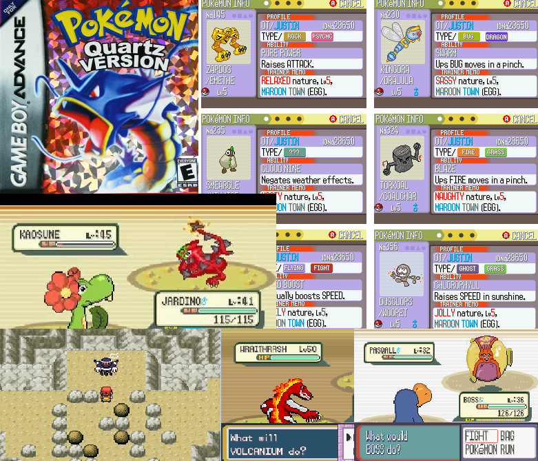 Pokemon Quartz Download Gba