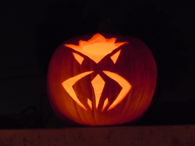 Carved Halloween pumpkin 2011