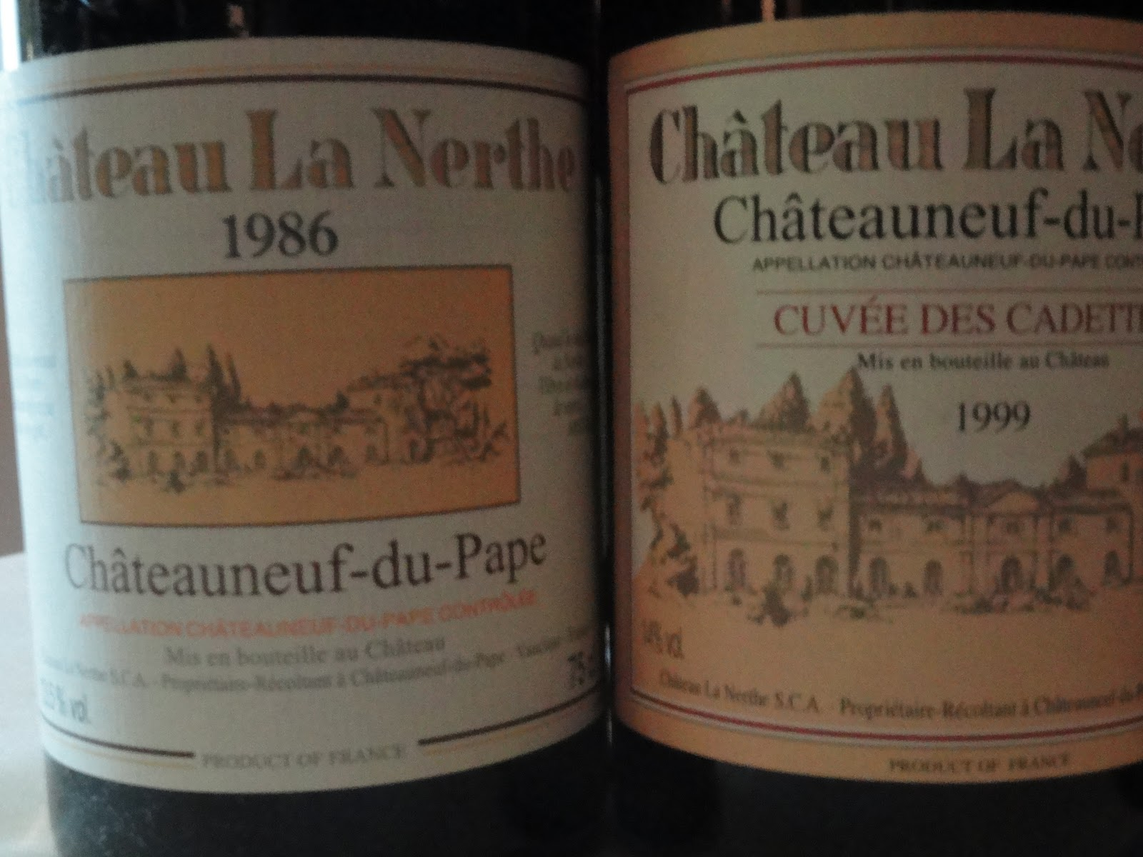 The passionate foodie chateau la nerthe all about the blends for Chateau la nerthe