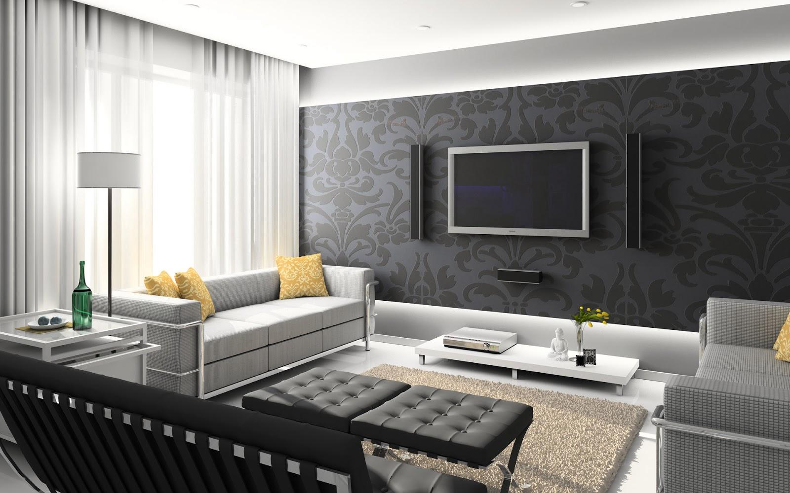 Wallpaper Desain Interior Ruang Keluarga