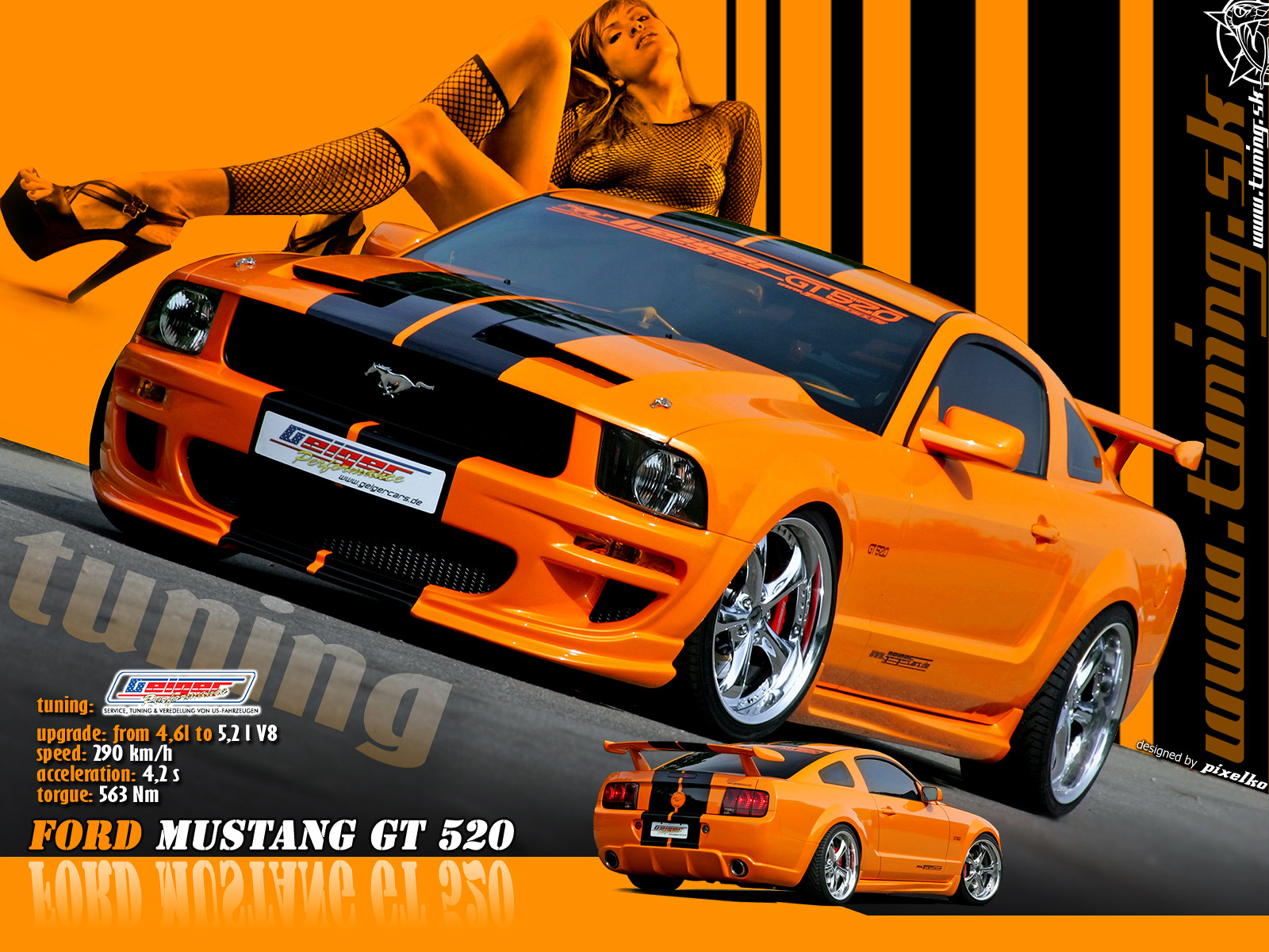 mustang gt-520 sport cars wallpaper