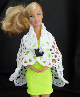 no-sew barbie cape, shawl or vest from doily