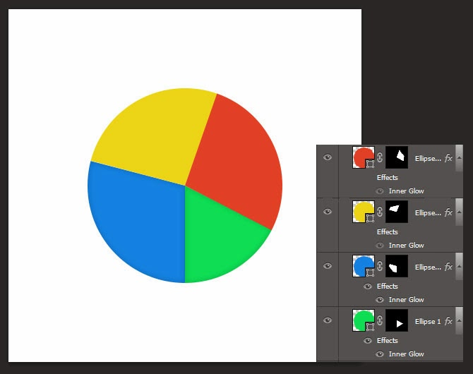 Layer Masking in infographics -pie chart