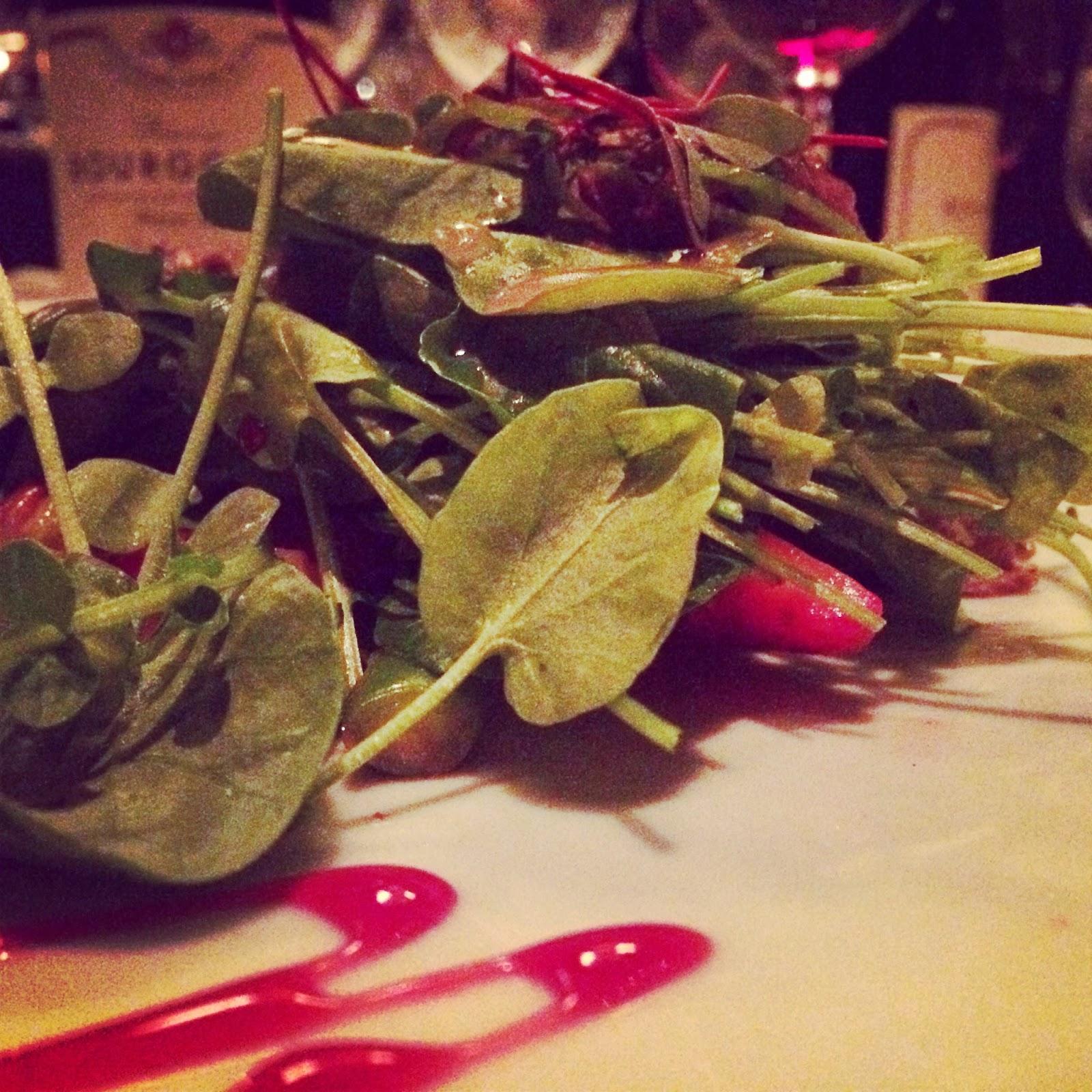 Second course: duck confit salad
