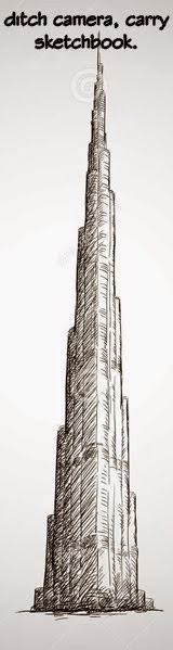 111 for Burj khalifa sketch
