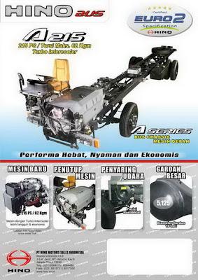 Spesifikasi dan Harga Chasis HINO A 215