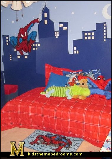 Decorating theme bedrooms maries manor spiderman bedroom decorating ideas spiderman room - Spiderman decorating ideas bedroom ...
