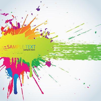 Colorful vector paint splashes