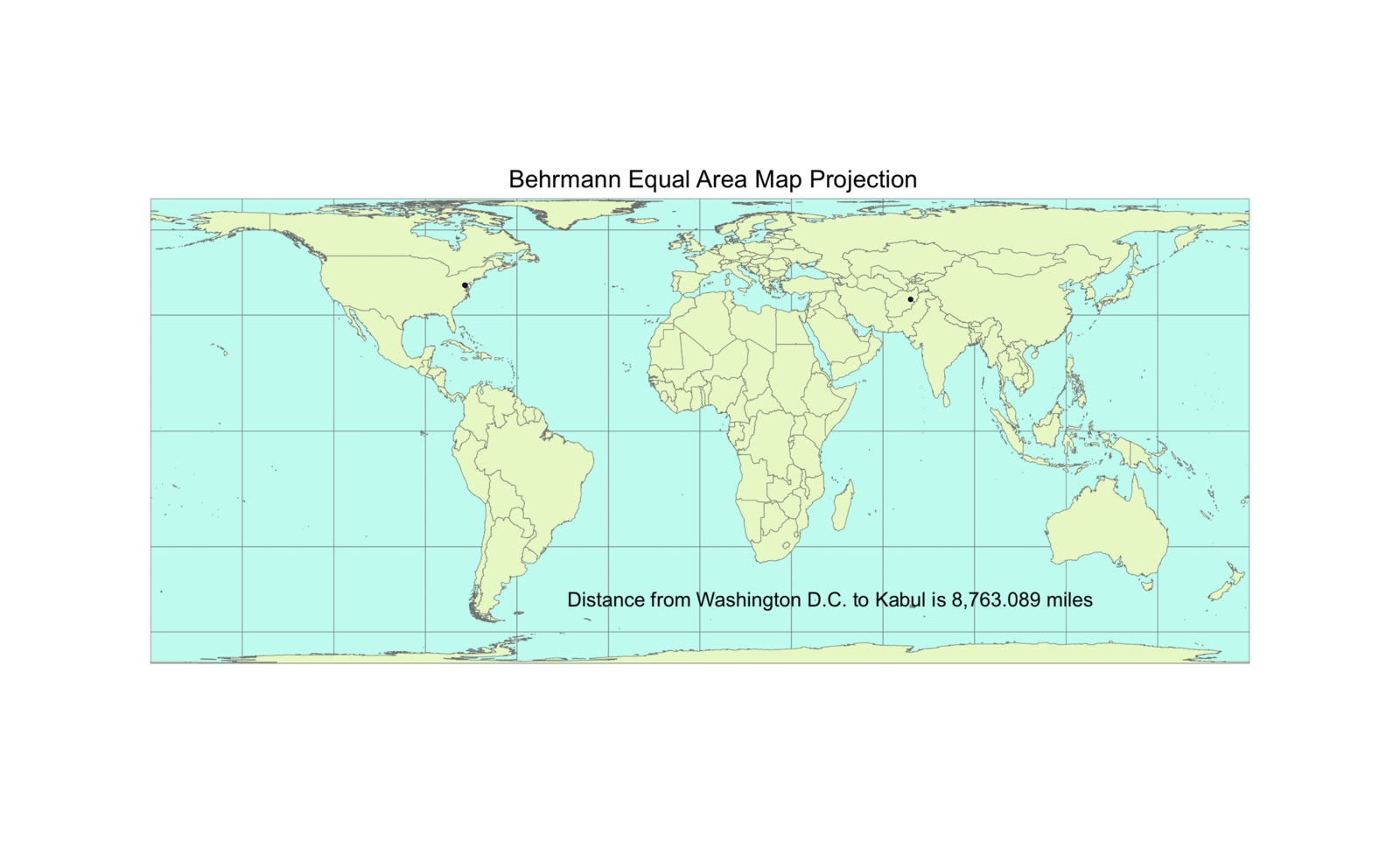 lab 5 map projections in arcgis