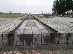 "Railway Platform for prisoners arriving at""Auschwitz II-Bikenau"" Concentration camp."