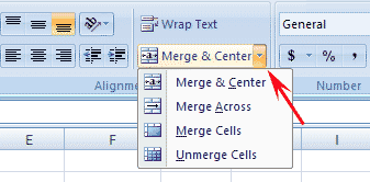 Cara merge cell di ms excel