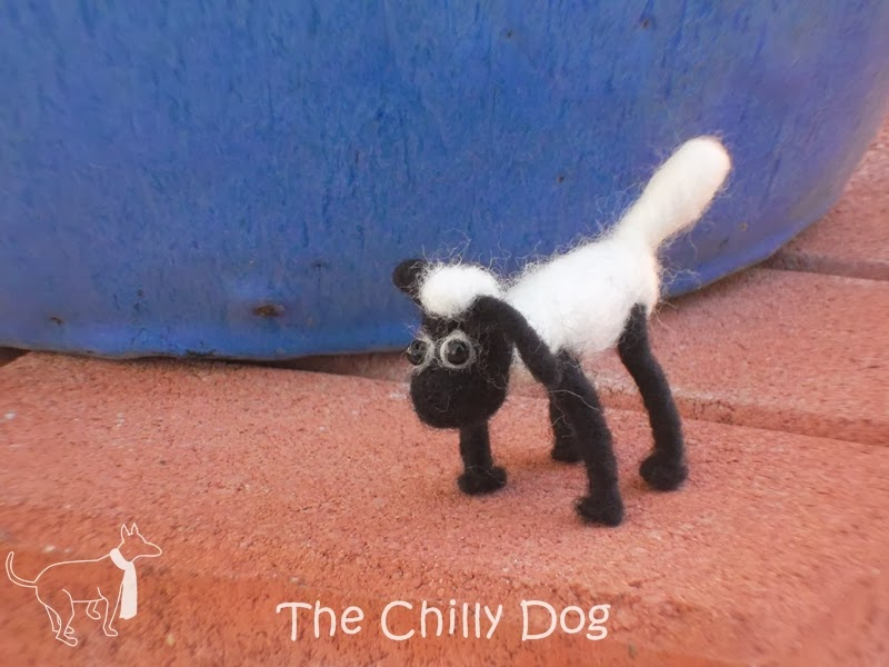 Needle felted Shaun the Sheep
