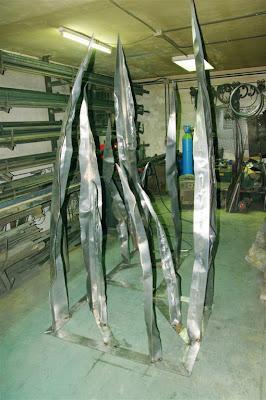 Montaje en bastidores del trabajo de acero corten