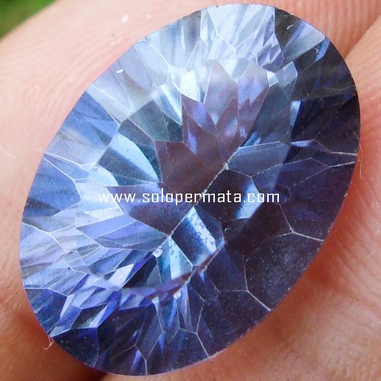 Batu Permata Violete Blue Quartz