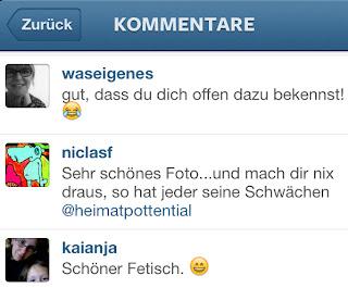 Kommentare auf Instagram