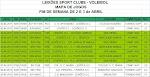 Jogos e Resultados do Fim de Semana de 2 e 3 de Abril