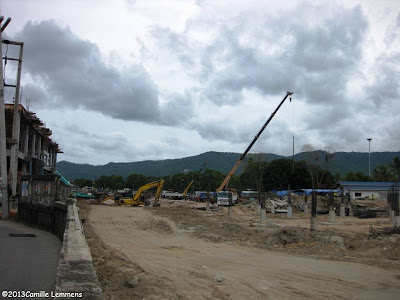 Central Festival construction site in Chaweng