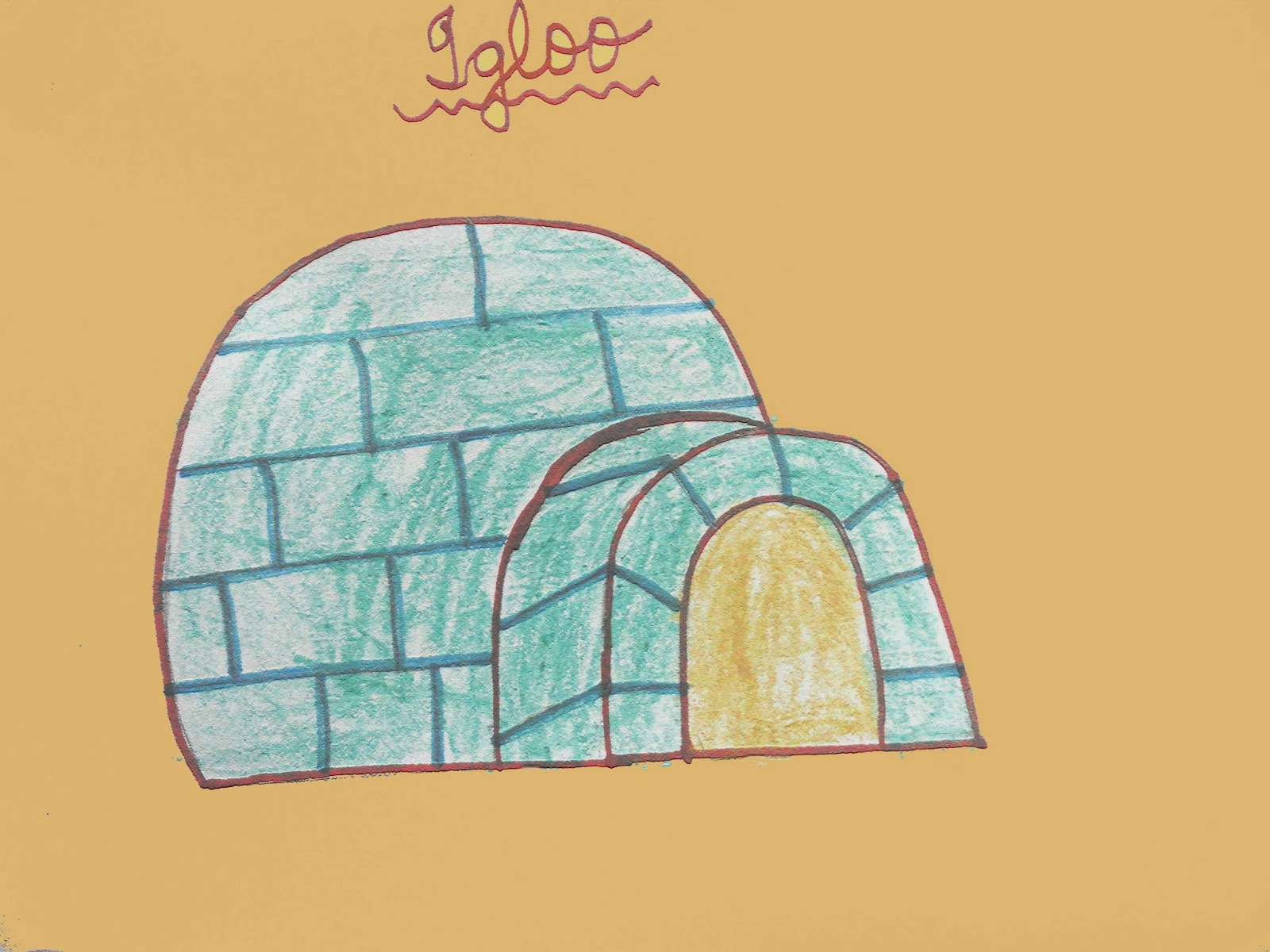 Igloo drawing for kids