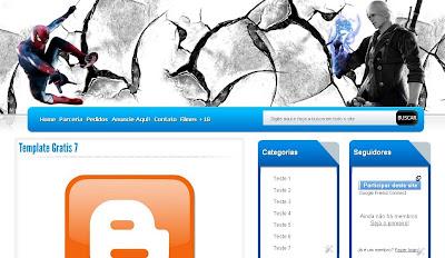 Template 3 Colunas Para BLog De Download