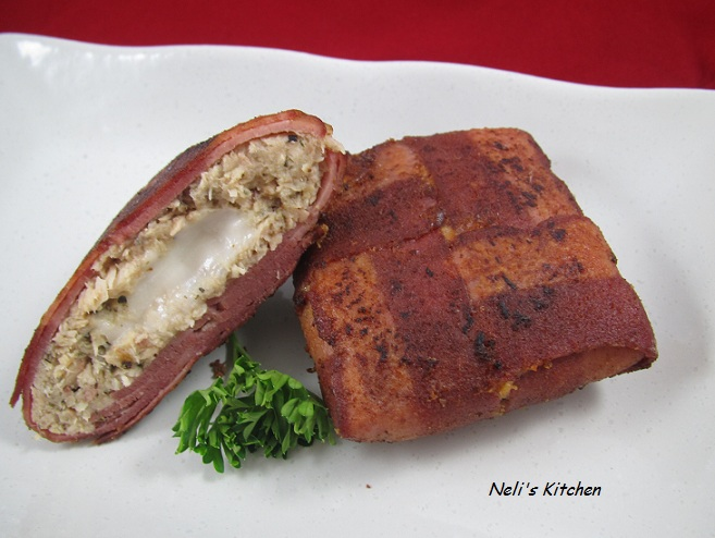 Tuna Wrapped Turkey Bacon