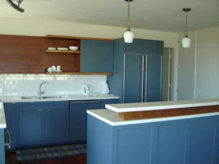 kitchen blue cabinets