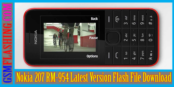 Nokia 207 RM-954 Latest Version Flash File Download