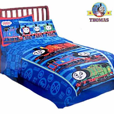 Bedding comforter Sodor railway James Percy and Thomas the train decorations for preschoolers rooms