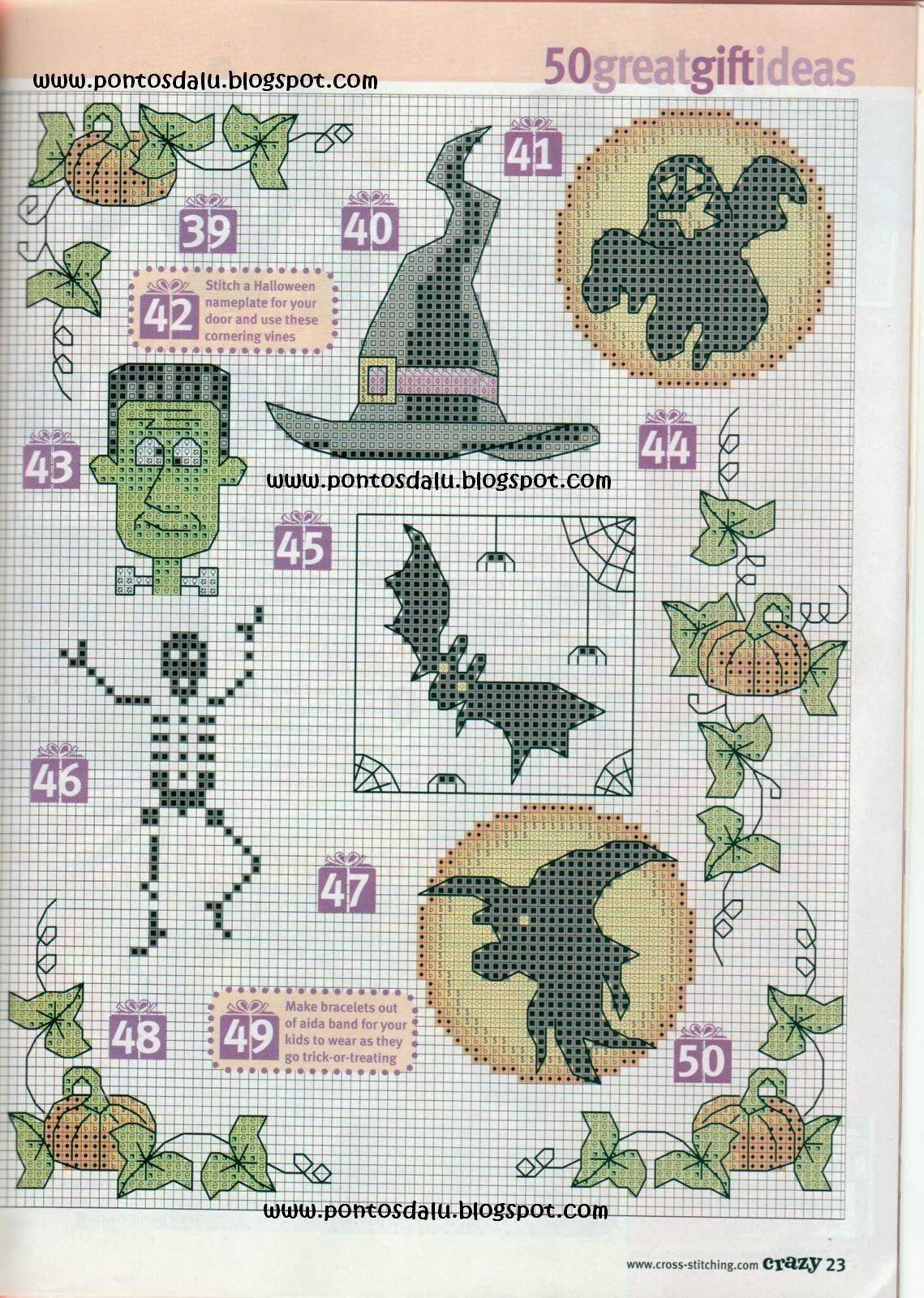 Halloween Tree Cross Stitch Pattern 17