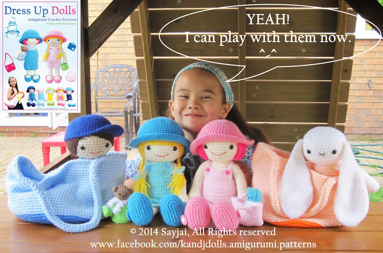 Amigurumi Crochet Books : Dress up dolls book will be available soon sayjai amigurumi