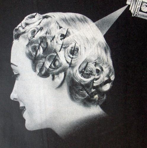 vintage pin curl setting #pincurl #vintage