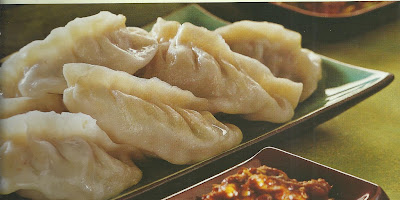 Steamed Chicken Momos in Microwave
