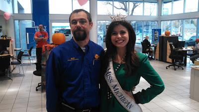 Miss Michigan's Chevy Volt at Graff Bay City