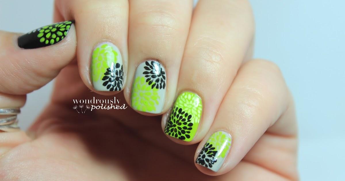 Floral Nail Art Designs At Home