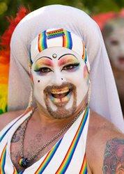 gay pride parader