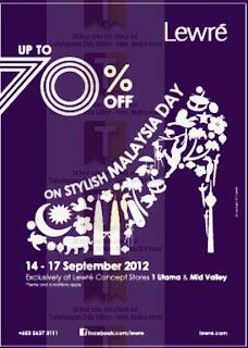LEWRE Malaysia Day Sale 2012